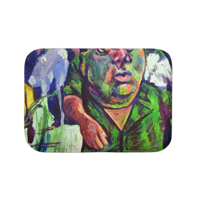 meds are kicking in Home Bath Mat by paintings by Seamus Wray