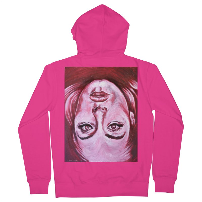 adele Men's French Terry Zip-Up Hoody by paintings by Seamus Wray