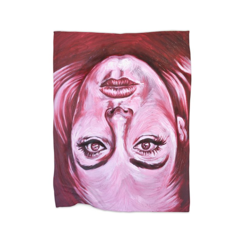 adele Home Fleece Blanket Blanket by paintings by Seamus Wray