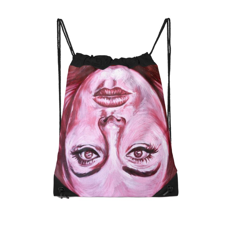 adele Accessories Drawstring Bag Bag by paintings by Seamus Wray