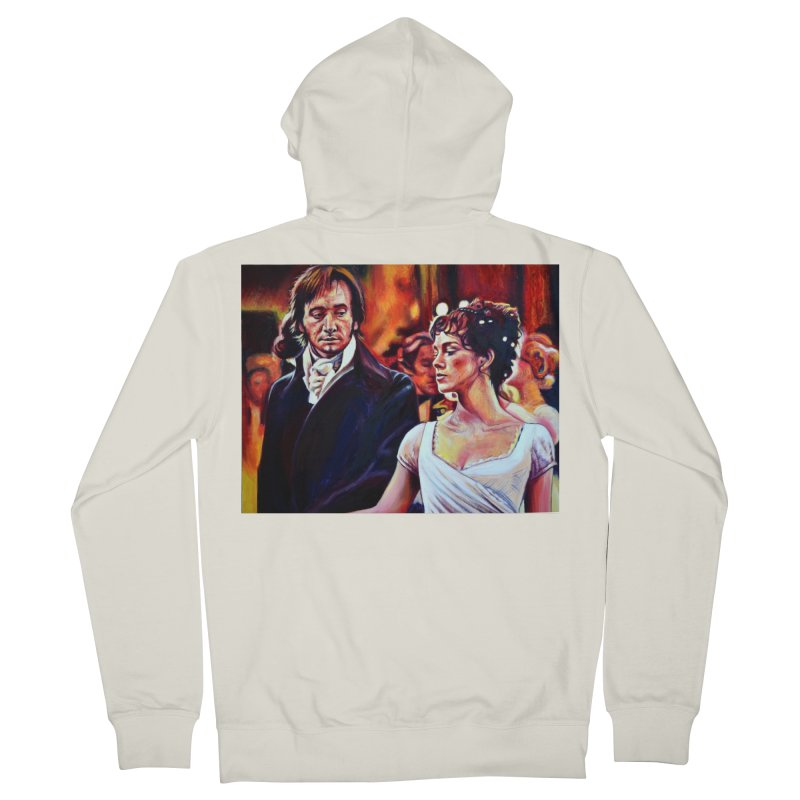 darcy-bennet Women's French Terry Zip-Up Hoody by paintings by Seamus Wray