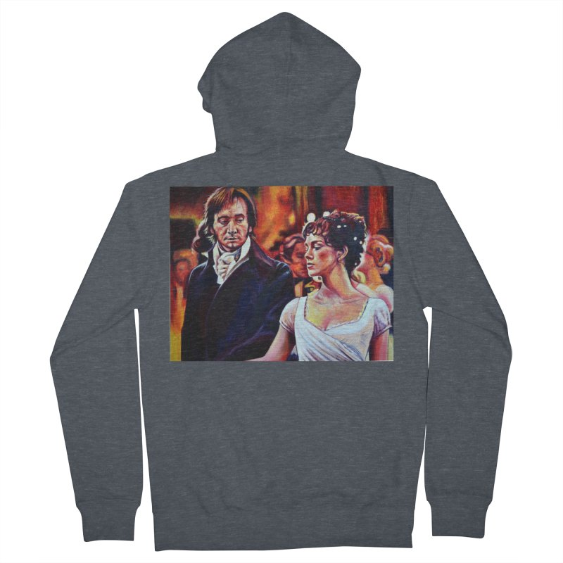 darcy-bennet Men's French Terry Zip-Up Hoody by paintings by Seamus Wray