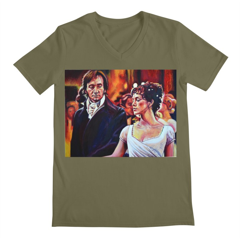 darcy-bennet Men's Regular V-Neck by paintings by Seamus Wray