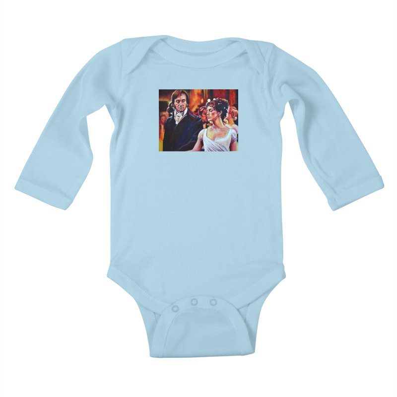 darcy-bennet Kids Baby Longsleeve Bodysuit by paintings by Seamus Wray