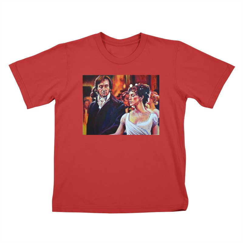 darcy-bennet Kids T-Shirt by paintings by Seamus Wray