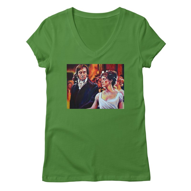 darcy-bennet Women's Regular V-Neck by paintings by Seamus Wray
