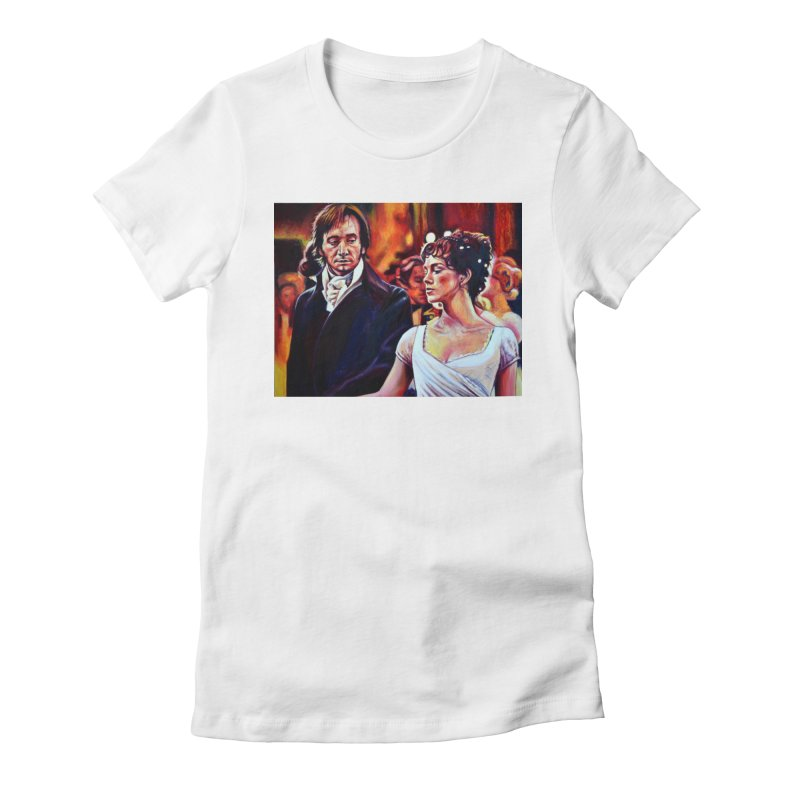 darcy-bennet Women's Fitted T-Shirt by paintings by Seamus Wray