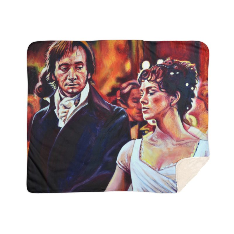 darcy-bennet Home Sherpa Blanket Blanket by paintings by Seamus Wray