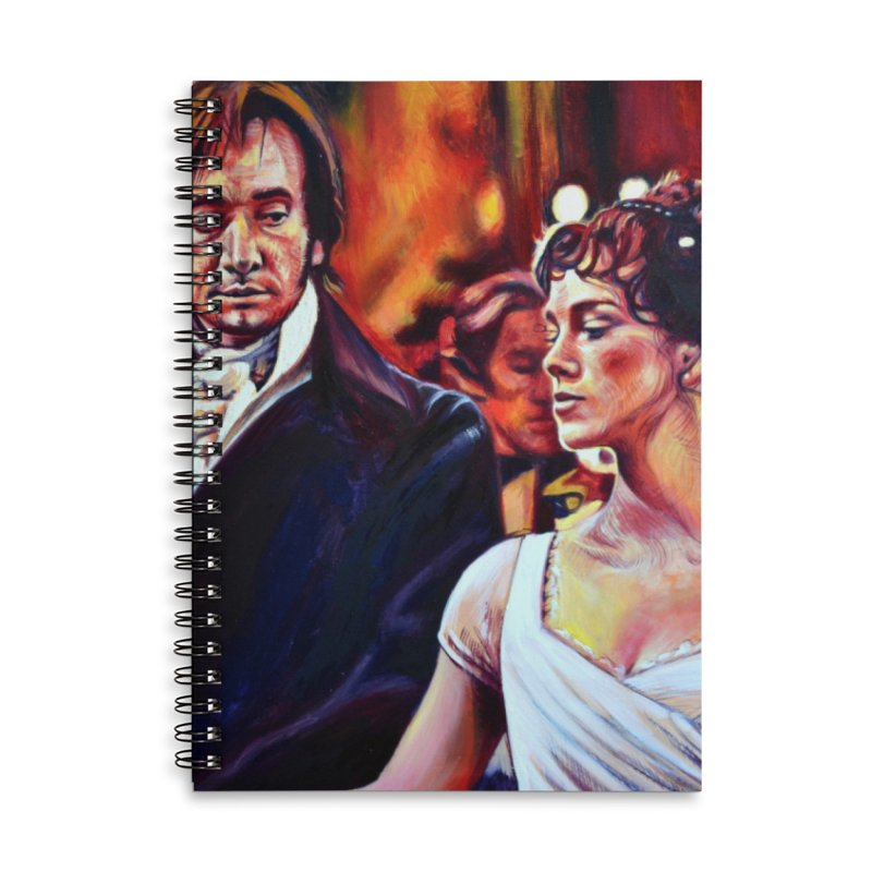 darcy-bennet Accessories Lined Spiral Notebook by paintings by Seamus Wray
