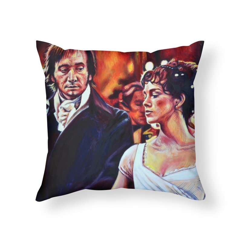 darcy-bennet Home Throw Pillow by paintings by Seamus Wray