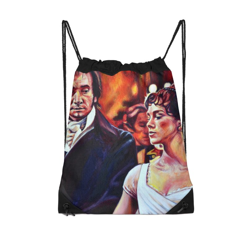 darcy-bennet Accessories Drawstring Bag Bag by paintings by Seamus Wray