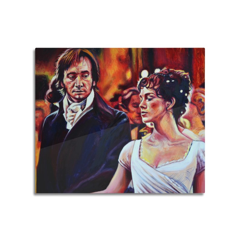 darcy-bennet Home Mounted Aluminum Print by paintings by Seamus Wray