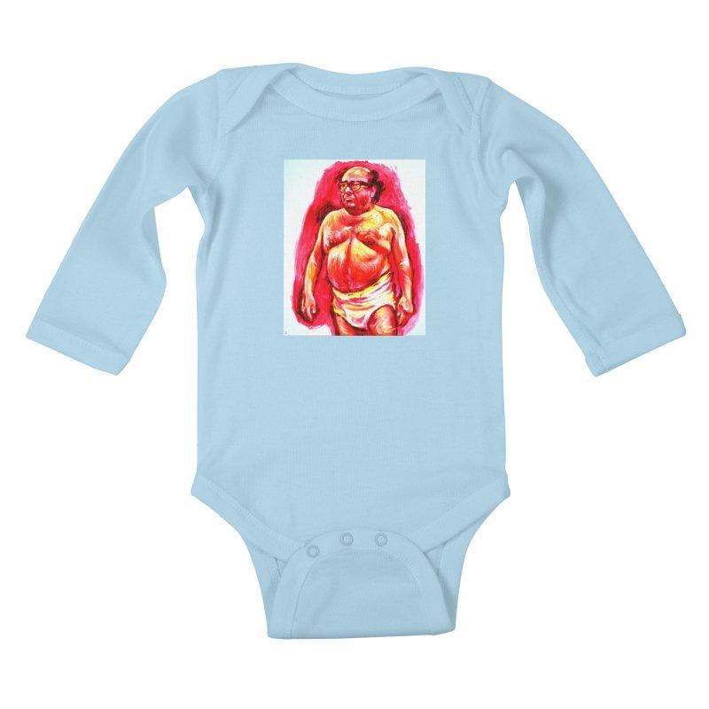 underwear Kids Baby Longsleeve Bodysuit by paintings by Seamus Wray