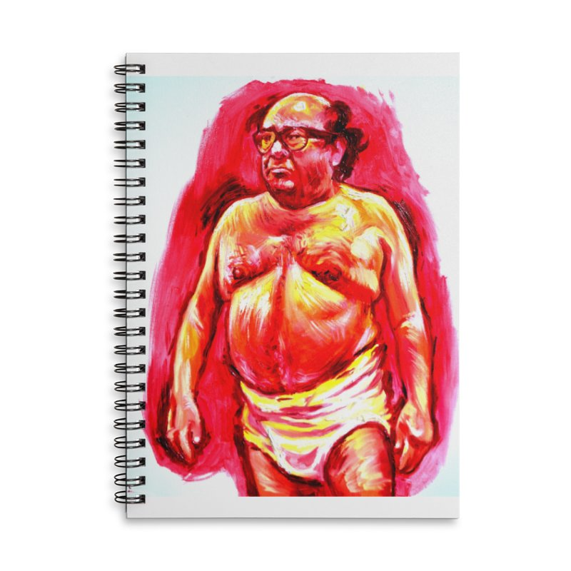 underwear Accessories Lined Spiral Notebook by paintings by Seamus Wray