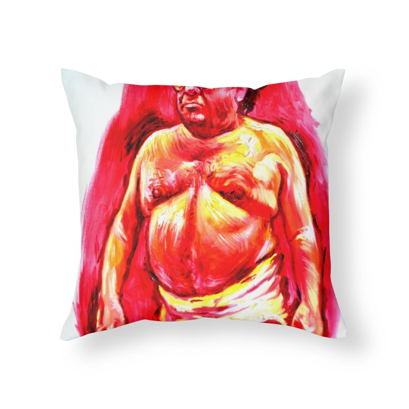underwear Home Throw Pillow by paintings by Seamus Wray