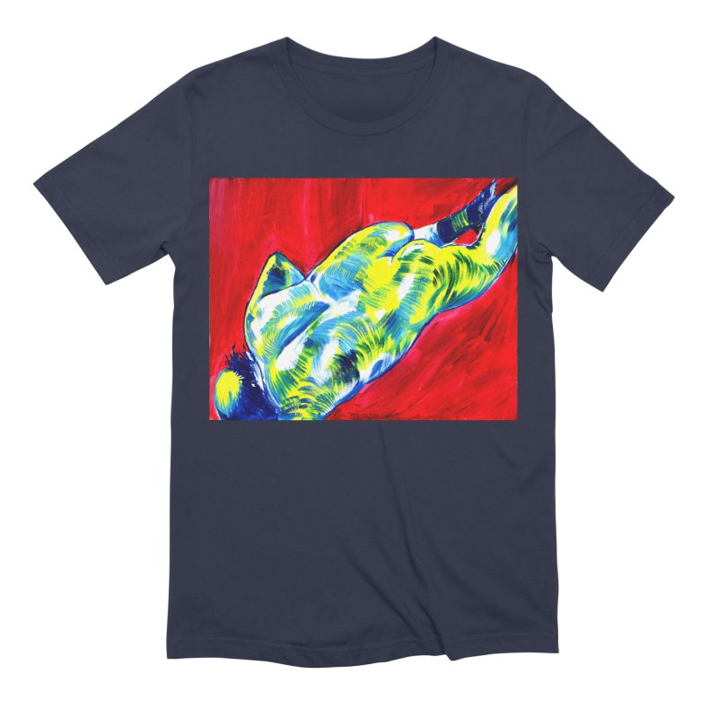 nude Men's Extra Soft T-Shirt by paintings by Seamus Wray