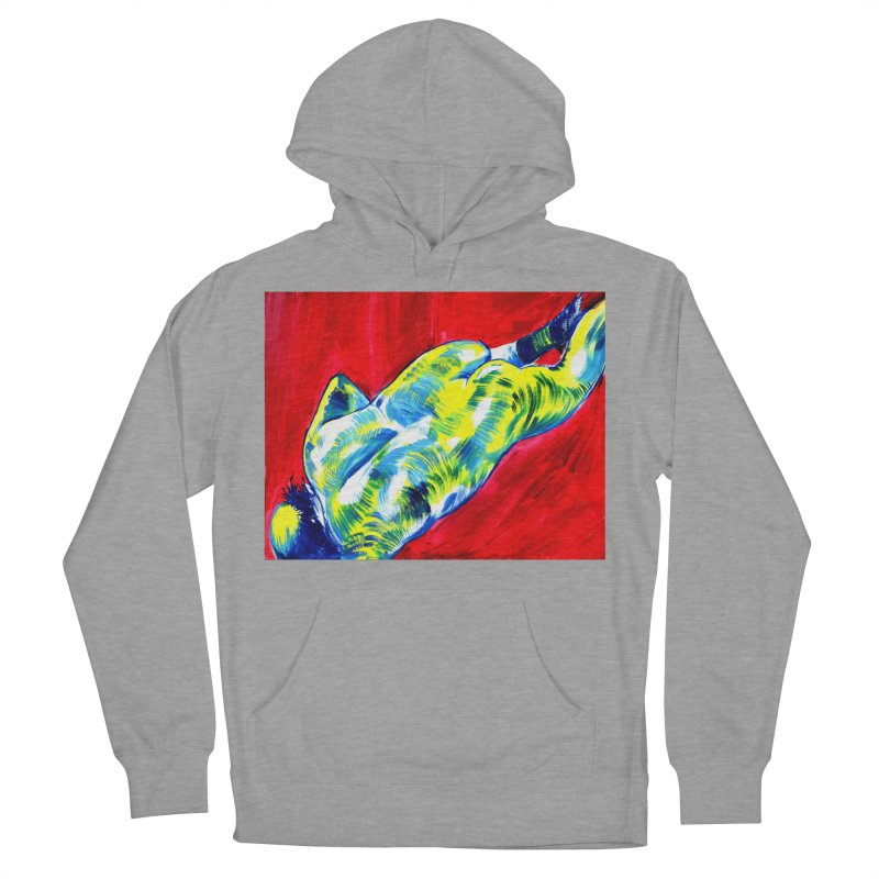 nude Women's French Terry Pullover Hoody by paintings by Seamus Wray