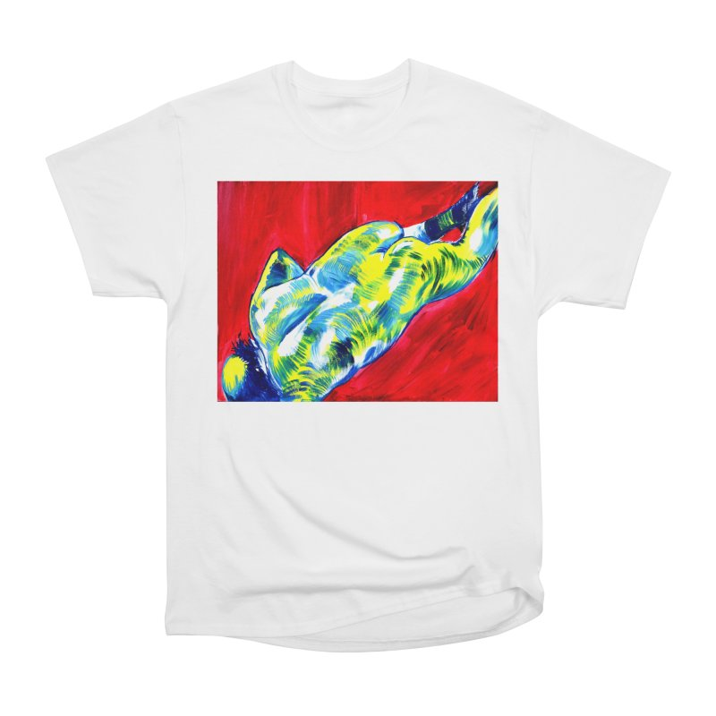nude Men's Heavyweight T-Shirt by paintings by Seamus Wray