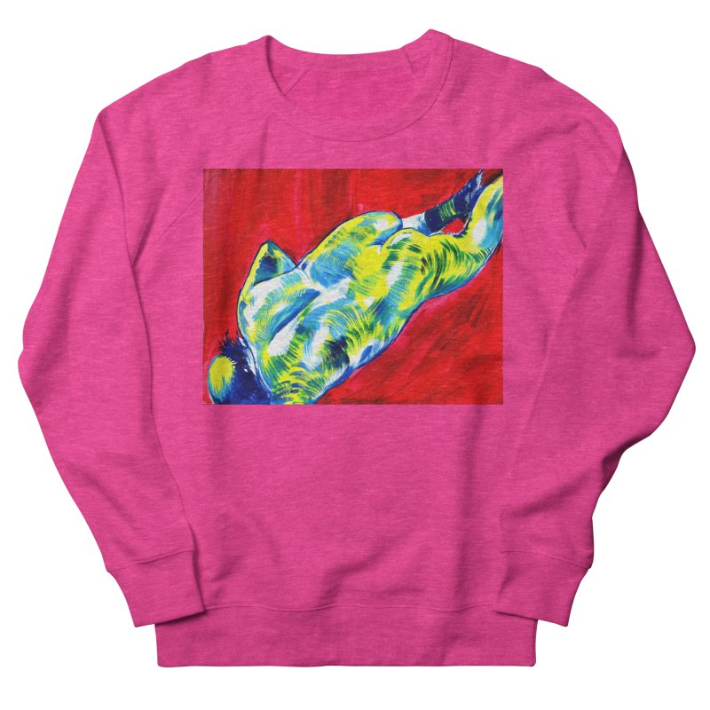 nude Women's French Terry Sweatshirt by paintings by Seamus Wray