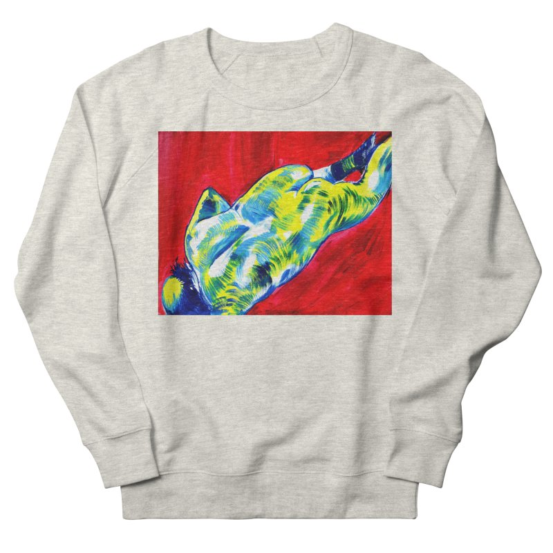 nude Men's French Terry Sweatshirt by paintings by Seamus Wray
