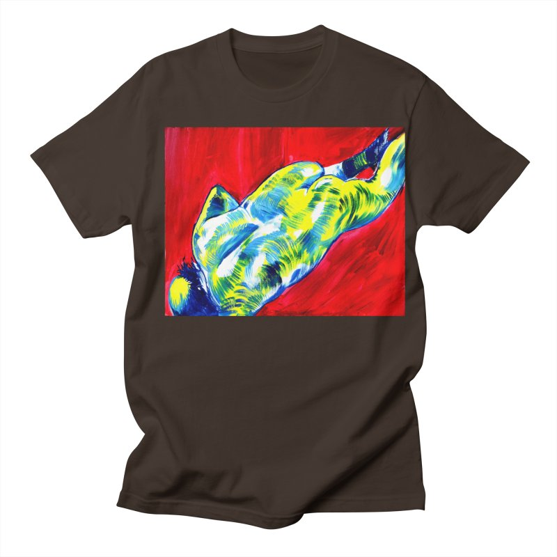 nude Men's Regular T-Shirt by paintings by Seamus Wray