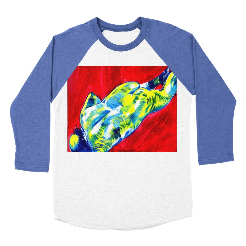 nude Women's Baseball Triblend Longsleeve T-Shirt by paintings by Seamus Wray