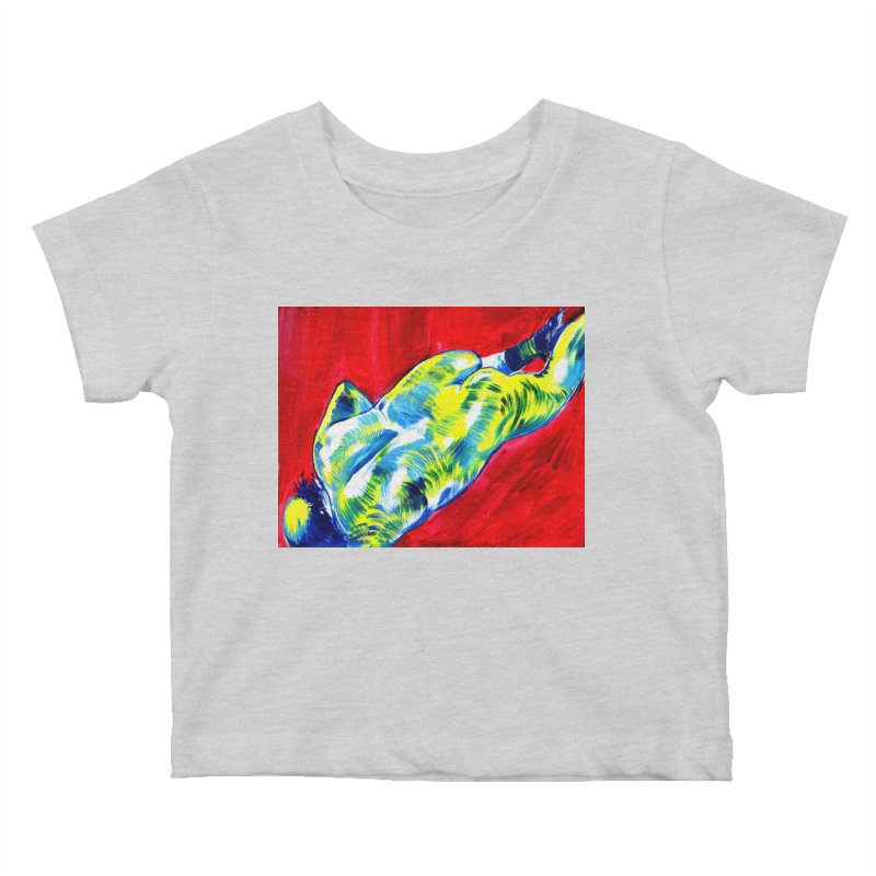 nude Kids Baby T-Shirt by paintings by Seamus Wray
