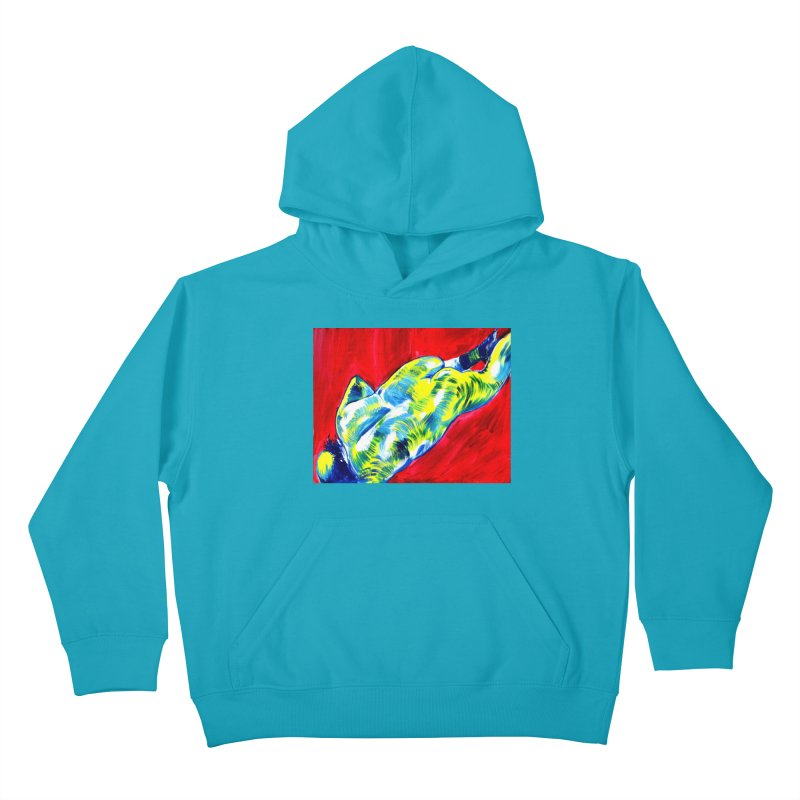 nude Kids Pullover Hoody by paintings by Seamus Wray