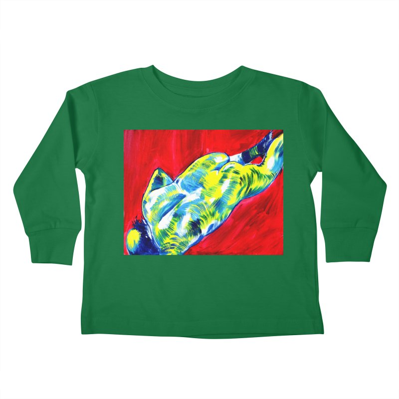 nude Kids Toddler Longsleeve T-Shirt by paintings by Seamus Wray