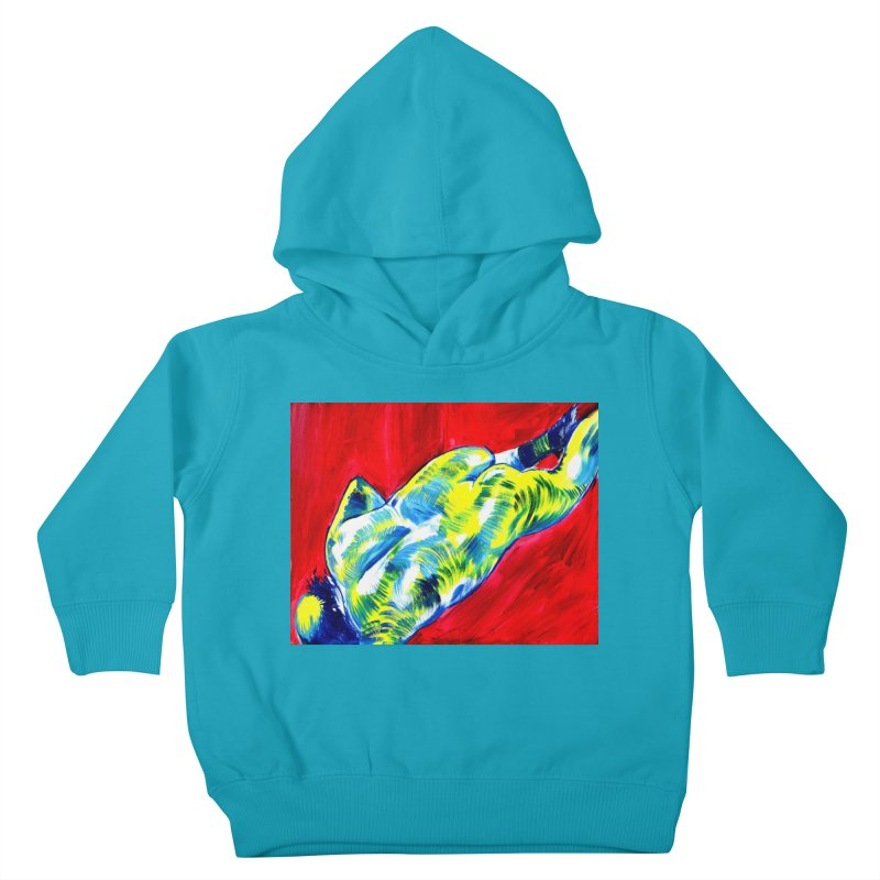 nude Kids Toddler Pullover Hoody by paintings by Seamus Wray