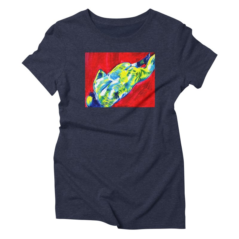 nude Women's Triblend T-Shirt by paintings by Seamus Wray