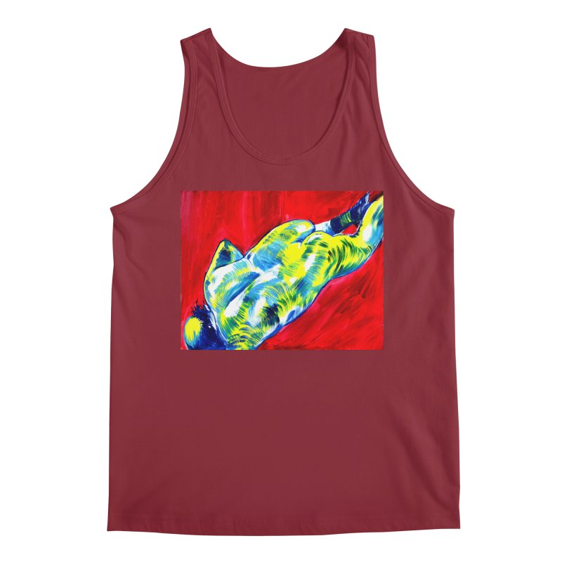 nude Men's Regular Tank by paintings by Seamus Wray