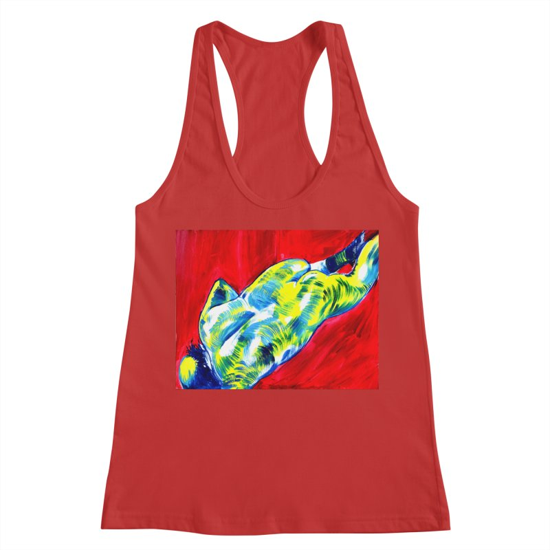 nude Women's Racerback Tank by paintings by Seamus Wray