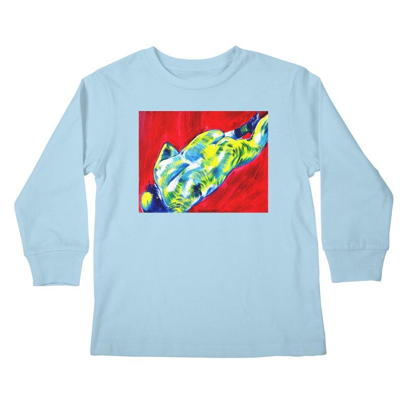 nude Kids Longsleeve T-Shirt by paintings by Seamus Wray