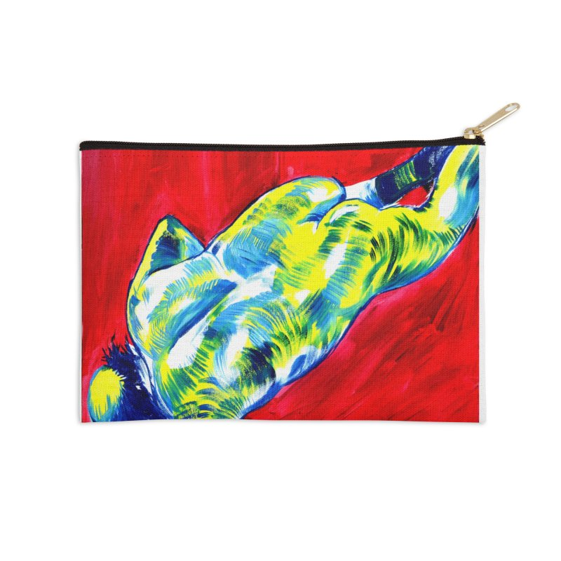 nude Accessories Zip Pouch by paintings by Seamus Wray