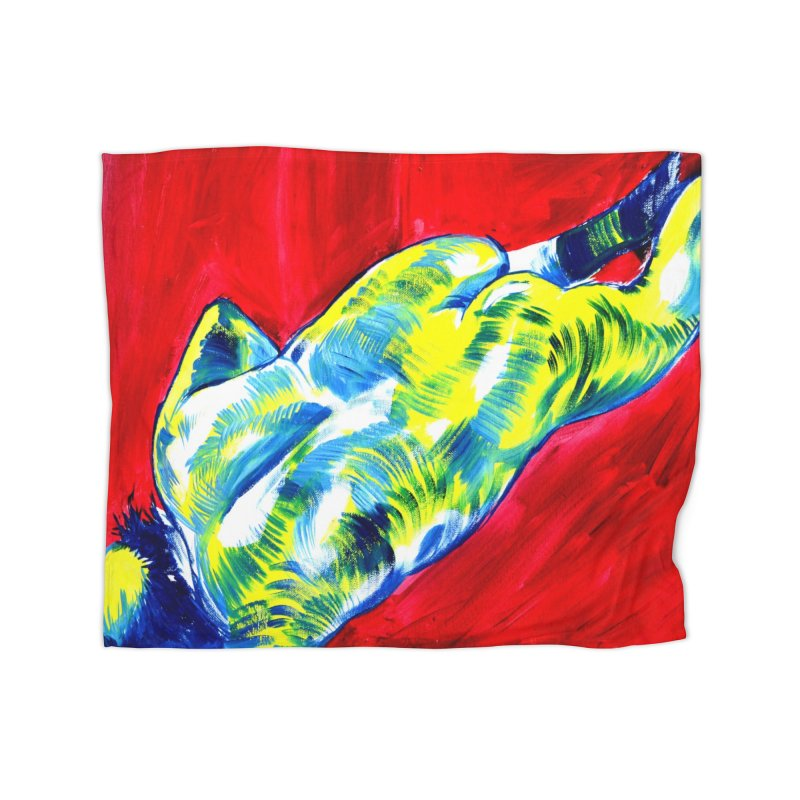 nude Home Fleece Blanket Blanket by paintings by Seamus Wray