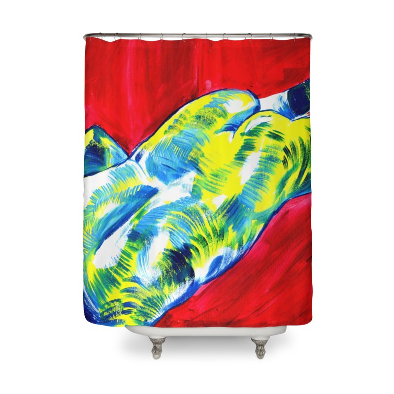 nude Home Shower Curtain by paintings by Seamus Wray