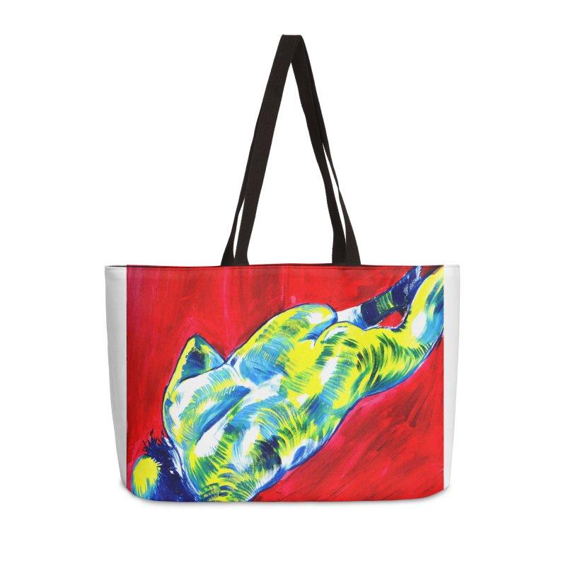 nude Accessories Weekender Bag Bag by paintings by Seamus Wray