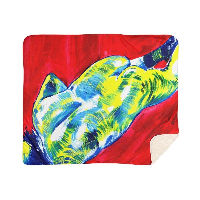 nude Home Sherpa Blanket Blanket by paintings by Seamus Wray