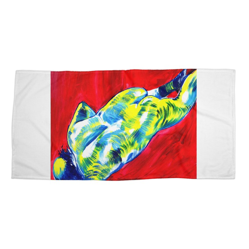 nude Accessories Beach Towel by paintings by Seamus Wray