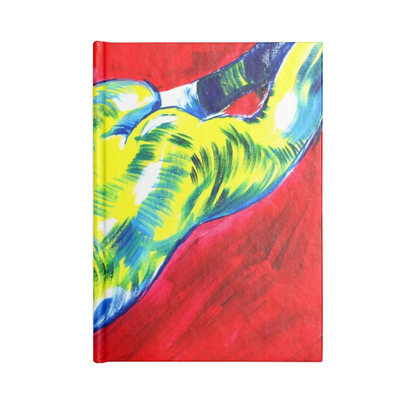 nude Accessories Blank Journal Notebook by paintings by Seamus Wray