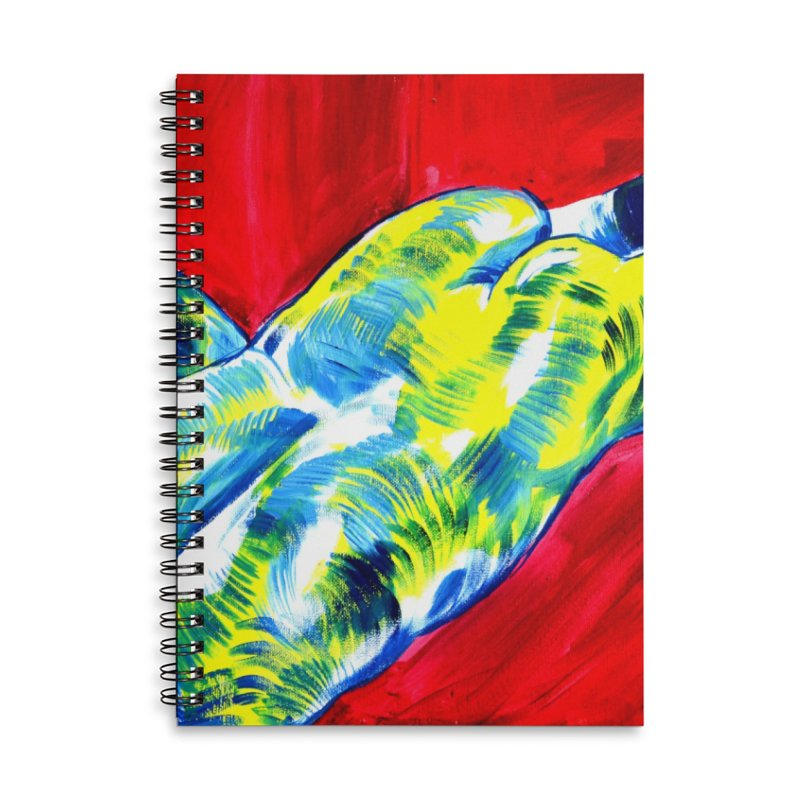 nude Accessories Lined Spiral Notebook by paintings by Seamus Wray