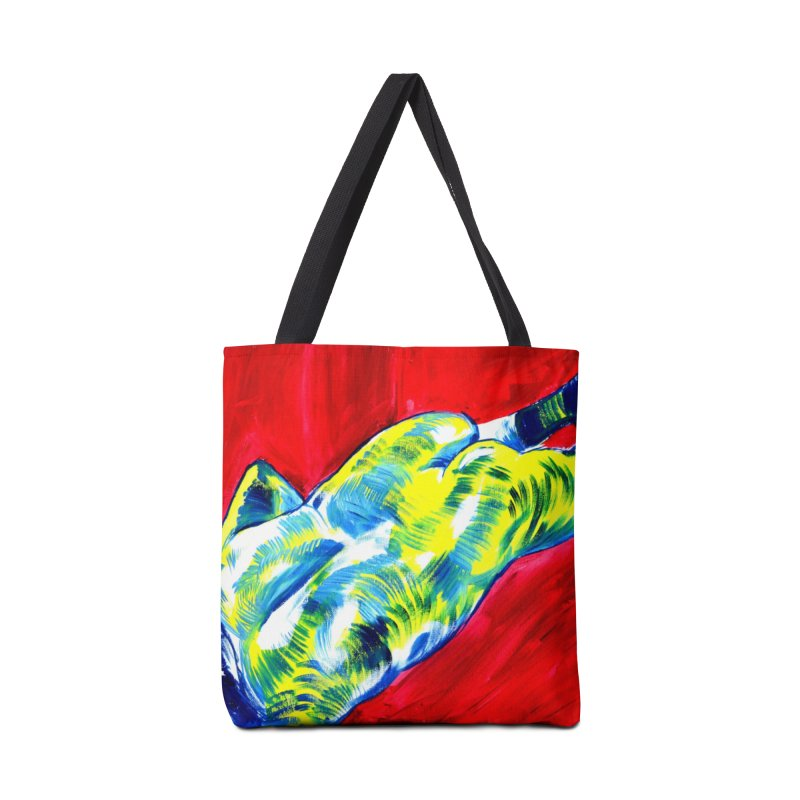 nude Accessories Tote Bag Bag by paintings by Seamus Wray