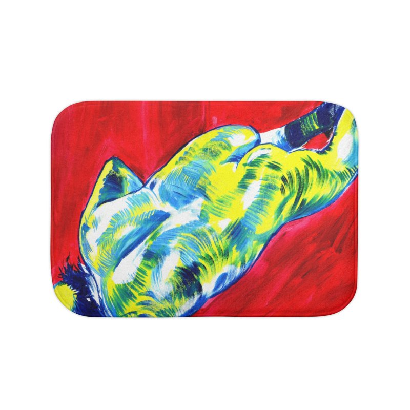nude Home Bath Mat by paintings by Seamus Wray