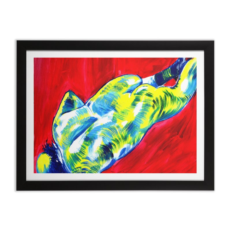 nude Home Framed Fine Art Print by paintings by Seamus Wray