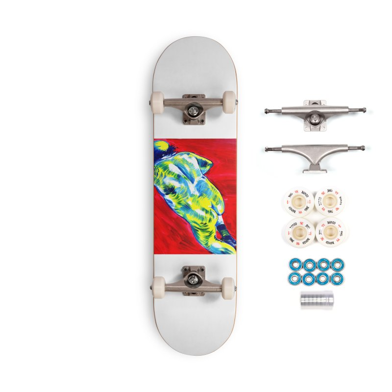 nude Accessories Complete - Premium Skateboard by paintings by Seamus Wray