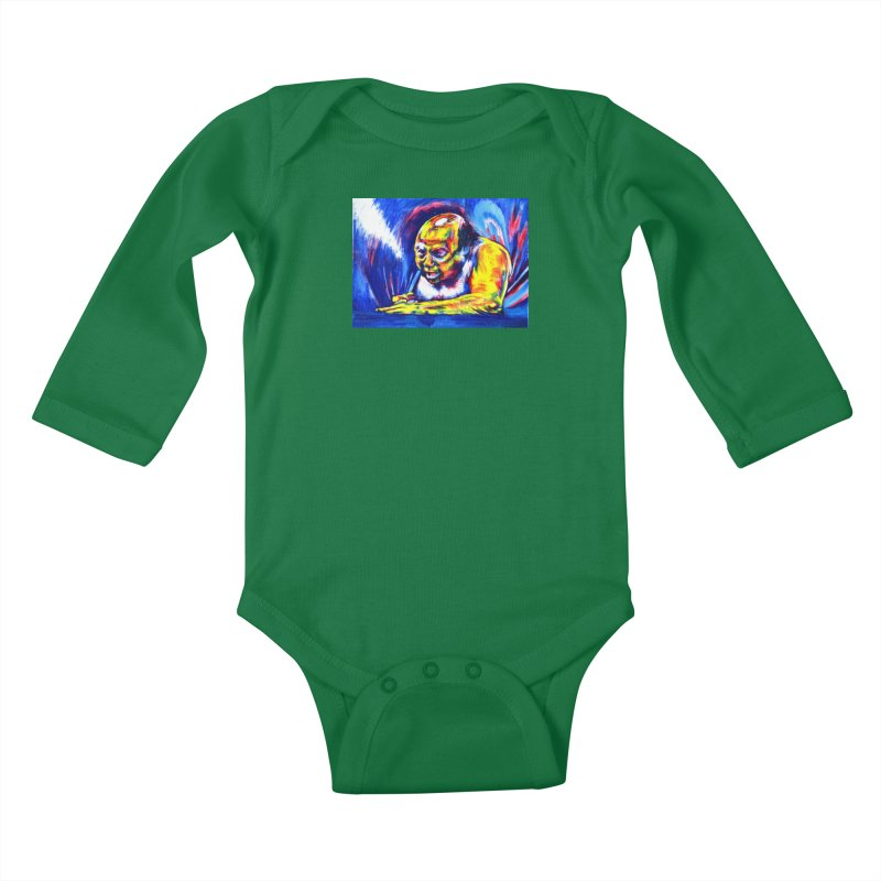 escape Kids Baby Longsleeve Bodysuit by paintings by Seamus Wray