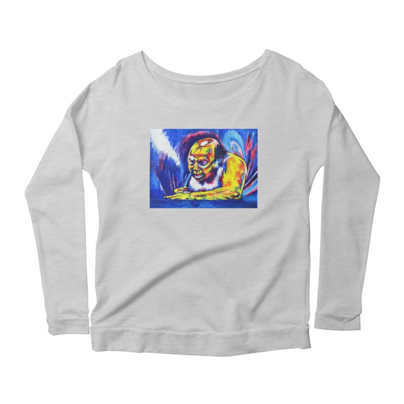escape Women's Scoop Neck Longsleeve T-Shirt by paintings by Seamus Wray