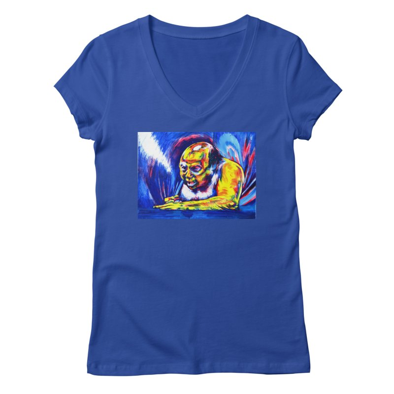 escape Women's Regular V-Neck by paintings by Seamus Wray