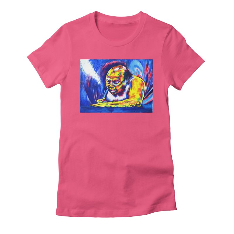 escape Women's Fitted T-Shirt by paintings by Seamus Wray